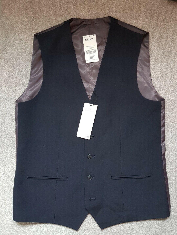 NEW Next Navy Waistcoat Size 40