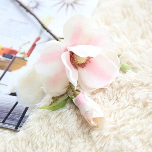 Une Branche Magnolia Fleur Artificielle Fausse Fleur En Soie Décoration Bouquet