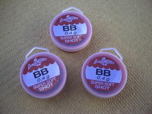 3 x Dinsmore Refil Tubs.Size BB Super Soft Shot.