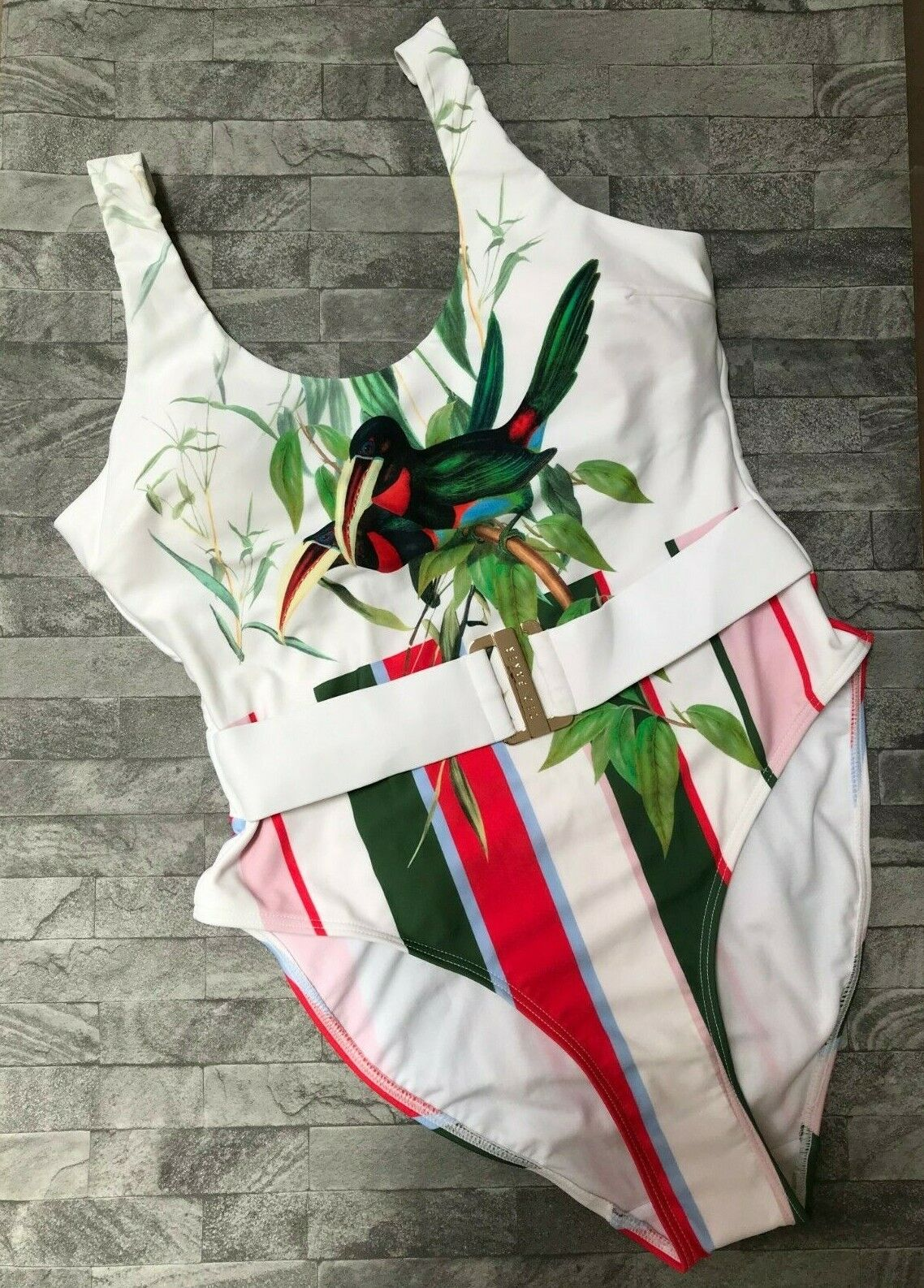 Ted Baker Analee Tutti Frutti one piece Badeanzug Größe 10 ( TB 2) Retail BNWT
