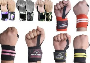 Power Weight Lifting Wrist Wraps Support Gym Training Fist Straps one size Strap