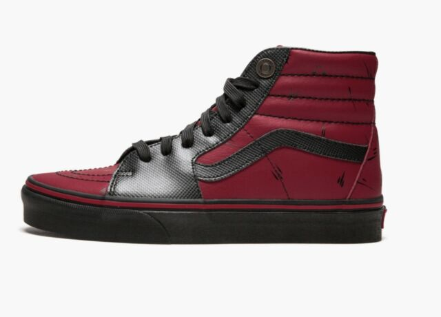 VANS X Marvel Sk8 Hi Deadpool US Mens Size 9 Shoes