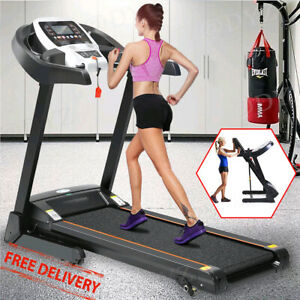 2.25HP Folding Treadmill W/Bluetooth Speaker Running Machine Home-Gym Fitness