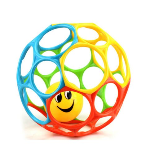 Baby Rattle Ball Toy Colorful Newborn Hand Catch Shaker Bell Ring Teether Toy