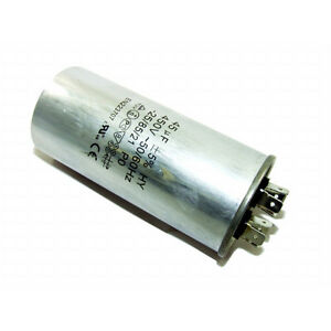 PLASTIC ROUND RUN CAPACITOR 12µF 12UF 400-500V 4 TERMINALS POOL PUMP