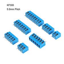 Screw Terminal Block Connector Kf300 2 3p 250v16a 50mm Pcb Blue Pitch 5 100pcs