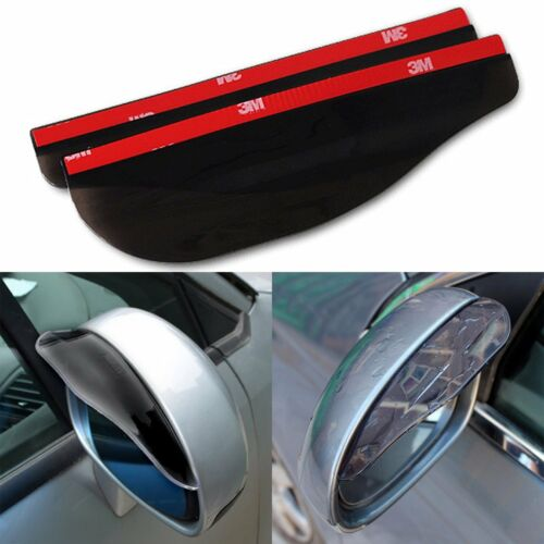 2X Universal Auto Rear View Side Mirror Visor Shield Rain Water Rainproof Cover