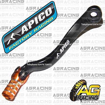 Apico Black Orange Gear Pedal Lever Shift For KTM XC-W 525 2002 Motocross Enduro