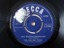 "The Rolling Stones 19th Nervous Breakdown ♫LISTEN♫ UK 7"" Decca F.12331 1966 VG+"