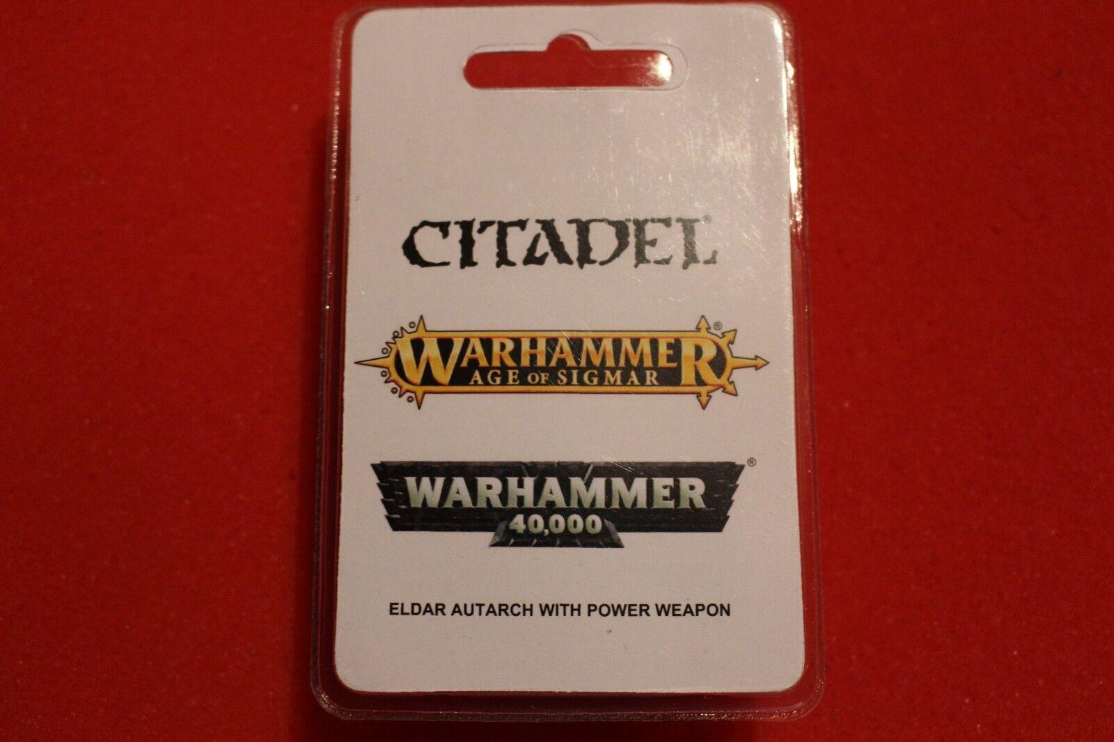 Games Workshop WARHAMMER 40k eldar autarch alata con Arma di alimentazione WH40K fuori catalogo