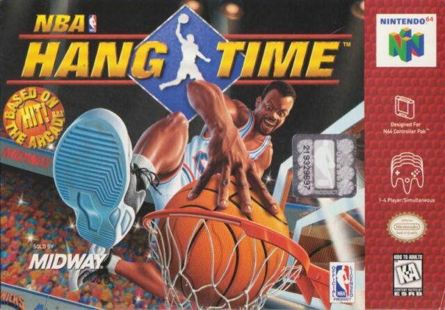 🔥MINT CONDITION🔥NBA HANG TIME NINTENDO 64 N64 CLEAN/TESTED RETRO ORIGINAL OEM