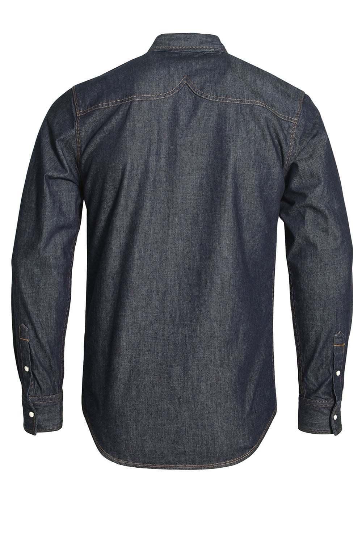 883 Police Bronco Camicia Camicia Camicia a maniche lunghe denim   Lavaggio Scuro a56a6e