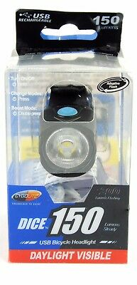 Cygolite Dice 150 Lumens USB Rechargeable Bright Headlight Daylight Visable Bike