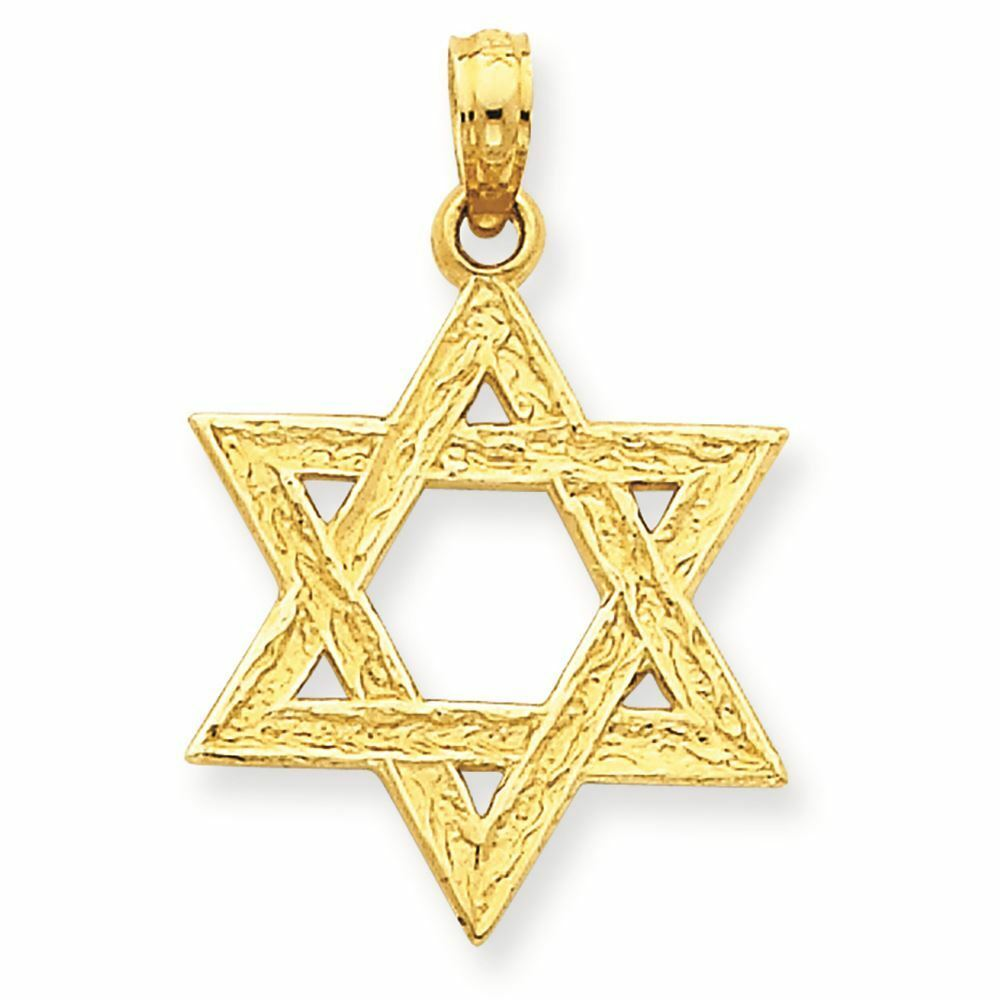 14K Yellow gold Star of David Charm Pendant MSRP  206