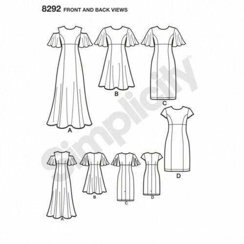Simplicidad extraña/'s Angel Manga Lápiz o llamarada vestidos de patrón de costura 8292
