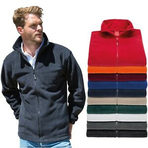 RESULT-Homme-Veste-Polaire-Full-Zip-Up-LOURDE-Outdoor-Chaud-Polaire-Anti-Pill-travail