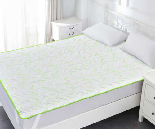 Luxury Orthopaedic Breathable Filled Bamboo Mattress Topper Quilted Enhancer