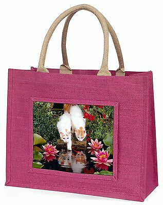 Türkisch Van Katzen von Fischteich Große Rosa Einkaufstasche Weihnachten Prese,