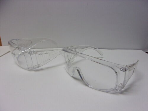 """Lot of 2 Bouton Optical Over Glasses /""""The Scout/"""" Safety Goggle Glasses Clear 463"""