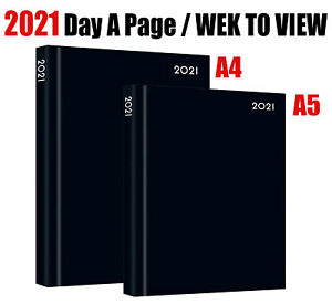 2021 diary A4//A5 Page a Day//Week to View Diary Hardback Casebound Blue cover