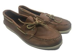 Sperry-Top-Sider-0532002-Men-039-s-A-O-2-Eye-Boat-Shoe-Tan-Authentic-Original-11-5