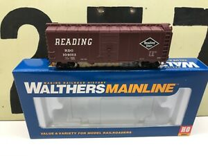 Walthers-HO-Scale-RDG-Reading-Lines-40-AAR-Boxcar-RD-104013-RTR-New