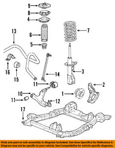 acura honda oem 07 09 mdx front suspension strut 51605stx365 ebay rh ebay com acura tsx suspension diagram acura rsx suspension diagram