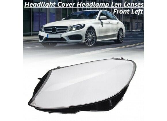 OEM HEADLIGHT GLASS LENS PLASTIC COVER FOR MERCEDES W205 (15-17)