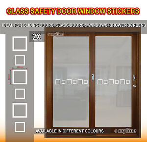 Safety stickers glass windows doors 015 squares design select colour image is loading safety stickers glass windows doors 015 squares design planetlyrics Gallery