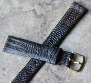 Stunning-varying-color-Real-Teju-Lizard-18mm-vintage-Seiko-watch-band-and-buckle