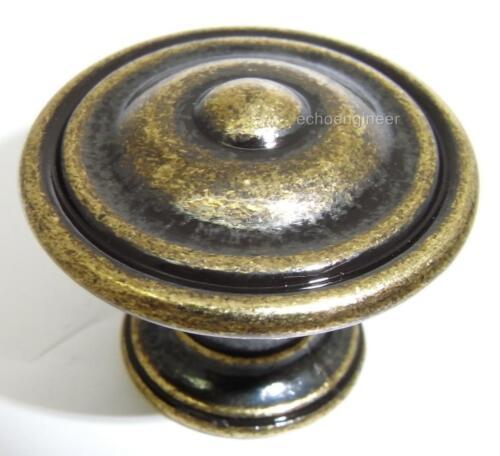 Lot de 2 X Laiton Antique Style diamètre 35 mm Armoire Poignées de porte