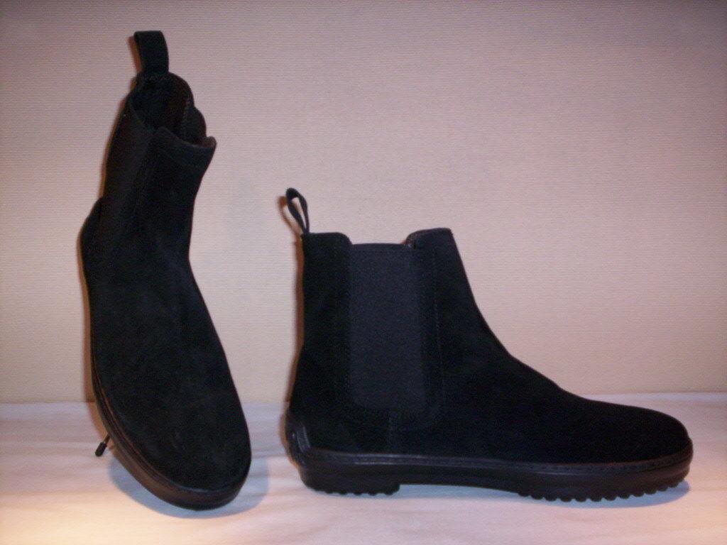Pueblo zapatos botas chelsea casual para hombres, de cuero ante en negro 40