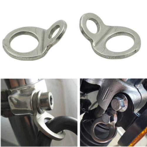 Tie-Down Tie Down Strap Rings Stainless Steel For Honda Yamaha Suzuki Kawasaki