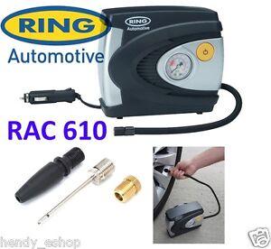 ring rac610 12v car tyre analogue gauge air compressor. Black Bedroom Furniture Sets. Home Design Ideas
