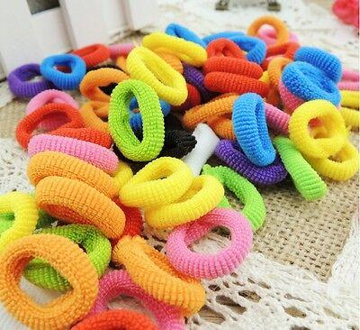 80X Girls Toddler Kids Elastic Hair Bands Bobbles Bows Boutique CE AU