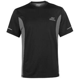 Skechers-Mens-Dash-camiseta-Manga-Corta-Cuello-Redondo-Camiseta-Top-Secado-Rapido-Stretch