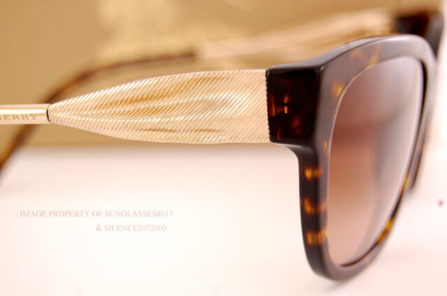 88f91d6ee046 Brand New Burberry Sunglasses BE 4203 3002 13 Havana Gradient Brown For  Women