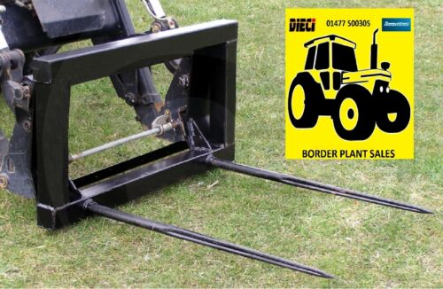**TRACTOR BALE SPIKE / FORKS EURO 8 BRACKET TWIN TINE MODEL** FREE DELIVERY