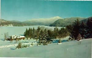 Vintage Postcard - The Lake and Whiteface Mountain Placid New York NY #1727