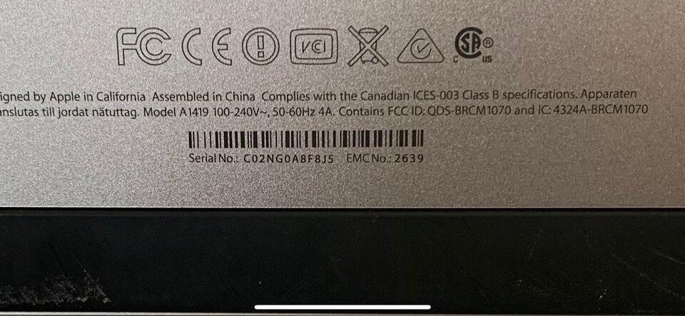 iMac, IMAC 27 Core i5, 3,4 GHz