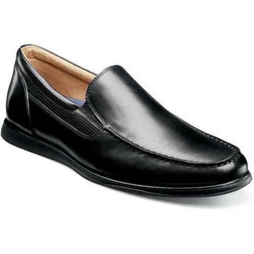 Florsheim Men/'s Atlantic Moc Toe Venetian Slip On Black 13316-001