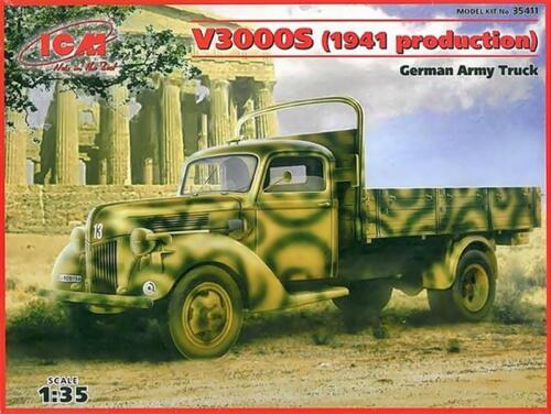 S 1941 German Army Truck 1:35 ICM 35411 Ford V3000
