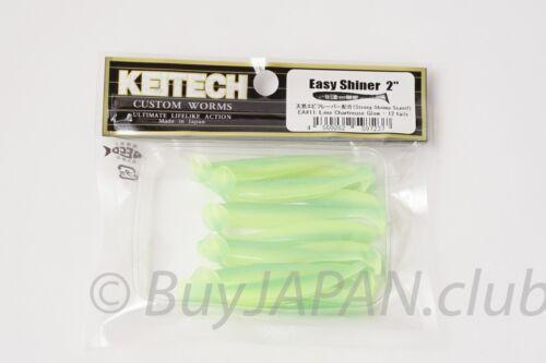"Soft Bait 7.5cm KEITECH EASY SHINER 3/"" select Color Japan Dropshot"