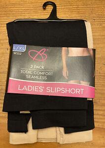 Bobbie Brooks 2-pk TOTAL COMFORT SEAMLESS Ladies Slipshort