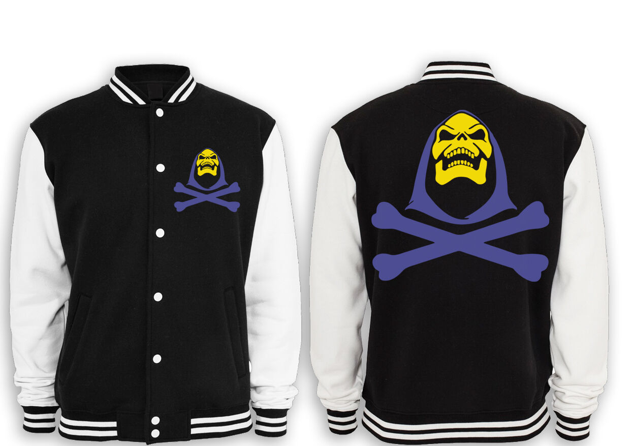 Skeletor Skull College Giacca Masters Of the Universe, He-Man, culto, BATTLECAT, motu