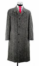 Vintage Men's Harry Suffrin Bespoke Kildare Irish Tweed Long Over Coat Sz 42 Reg