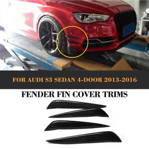 Front-Bumper-Lip-Canard-Splitters-Trim-Carbon-Fiber-Refit-for-Audi-S3-13-16