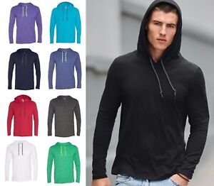 Anvil-Men-039-s-Ringspun-Cotton-Lightweight-Hooded-Hoodie-Shirt-T-shirt-S-2XL-987