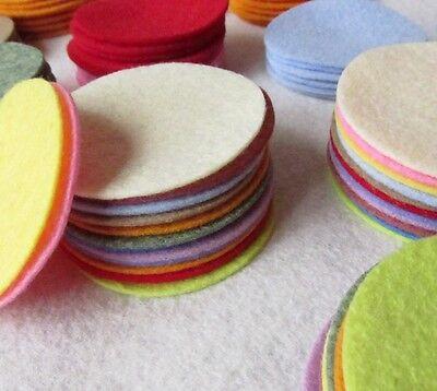 "27 Wool Felt 3"" Circle Die Cuts - UPICK Colors - Penny rug - Bow Making"