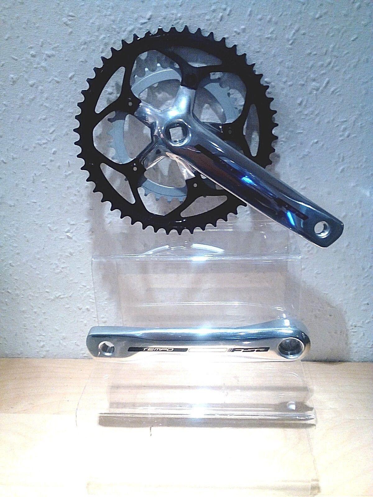 NUOVO FSA TEMPO doppia pedaliera in. 50 34. 175 lunghezza Crank. venditore UK
